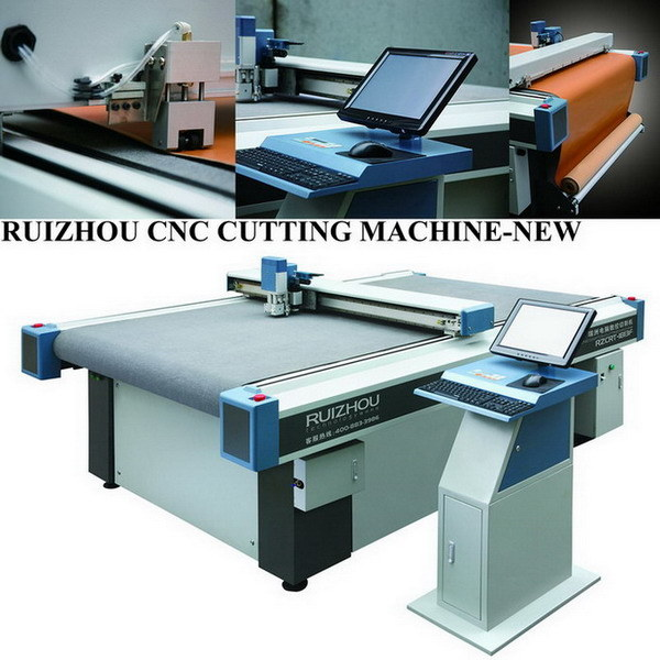 CNC Vibrating Knife Car Mat Cutting Machine (RZCRT-2516F) pictures & photos