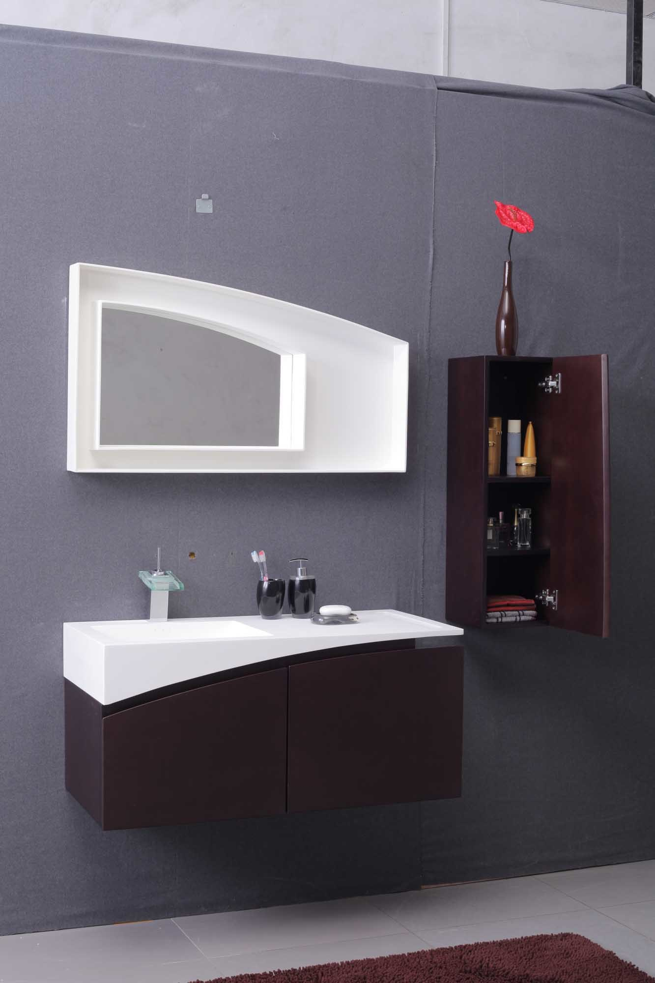 China European Style Acrylic Solid Surface Bathroom Cabinet Wash