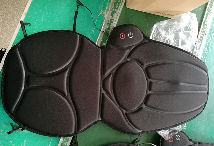 Electric Vibration Heat Car Seat Back Pain Massage Machine pictures & photos