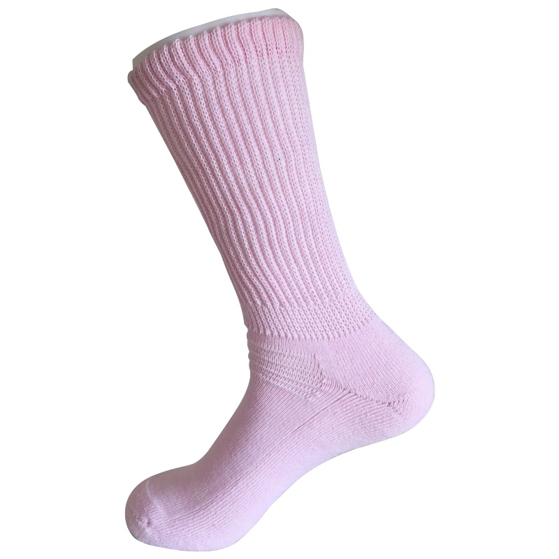 Half Cushion Sorbtek Coolmax Diabetic Health Care Medical Pink Socks (JMDB04)