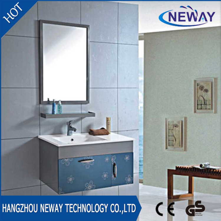 China High Quality Wall Steel Pace Bathroom Cabinets With Mirror Vanity Cabinet