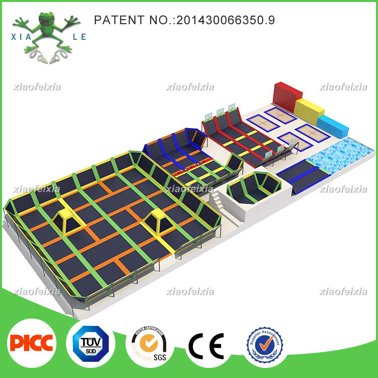 Customized Rectangular Indoor Trampoline for Adults with Trade Assurance Fund