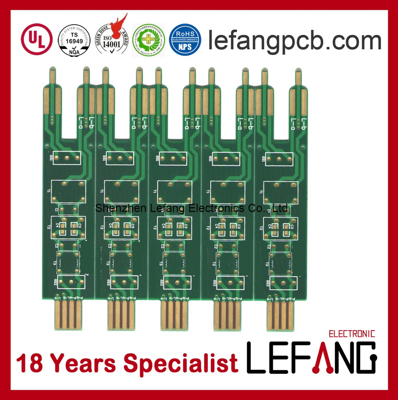 China High Frequency Circuit Board Pcb For Electronic Communication Circuits
