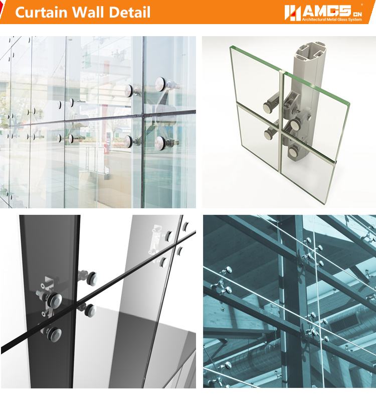 Exterior Design Fabrication and Engineering Point Supported Glass Curtain Wall pictures & photos
