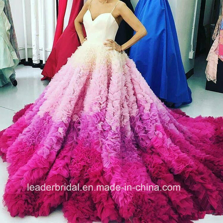 Wedding Gowns In Color: China Multi Color Bridal Ball Gowns Blue Pink Cascading