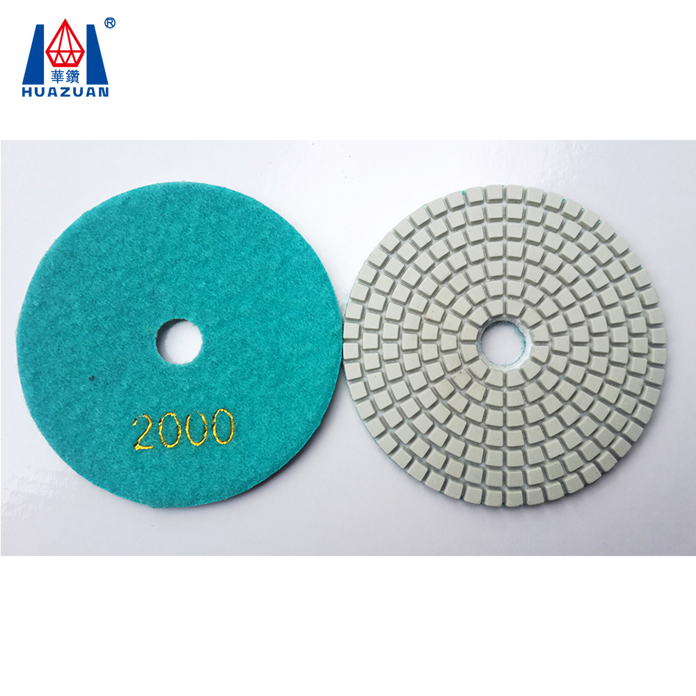 "8/"" Inch 200mm DIAMOND POLISHING PAD 8 Piece Granite Concrete Sanding Glass stone"