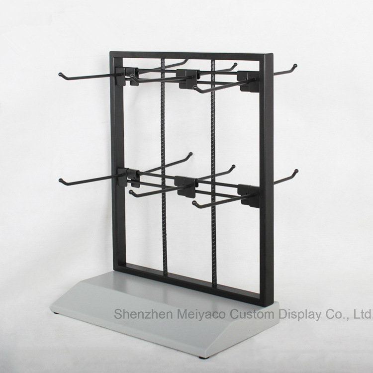 China Iron Wire Table Top Double Sided Hook Display Rack Metal