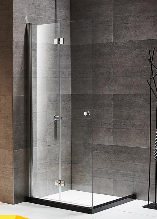 New Design Hot Sale Hinged Framed Bathroom Shower Screen Door Inside And  Outside Folding Design