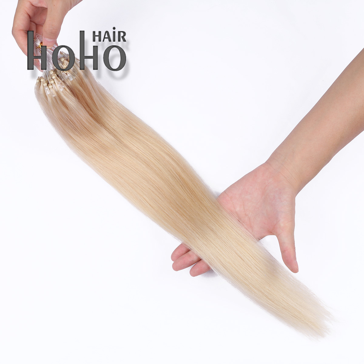 China Brazilian Remy Human Hair 20 Inch Blonde Micro Loop Hair