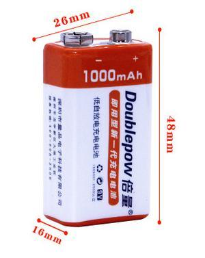 9v Times The Amount Of Rechargeable Battery Genuine High Capacity Lithium Nine Volts 9 Volt 1000 Ma