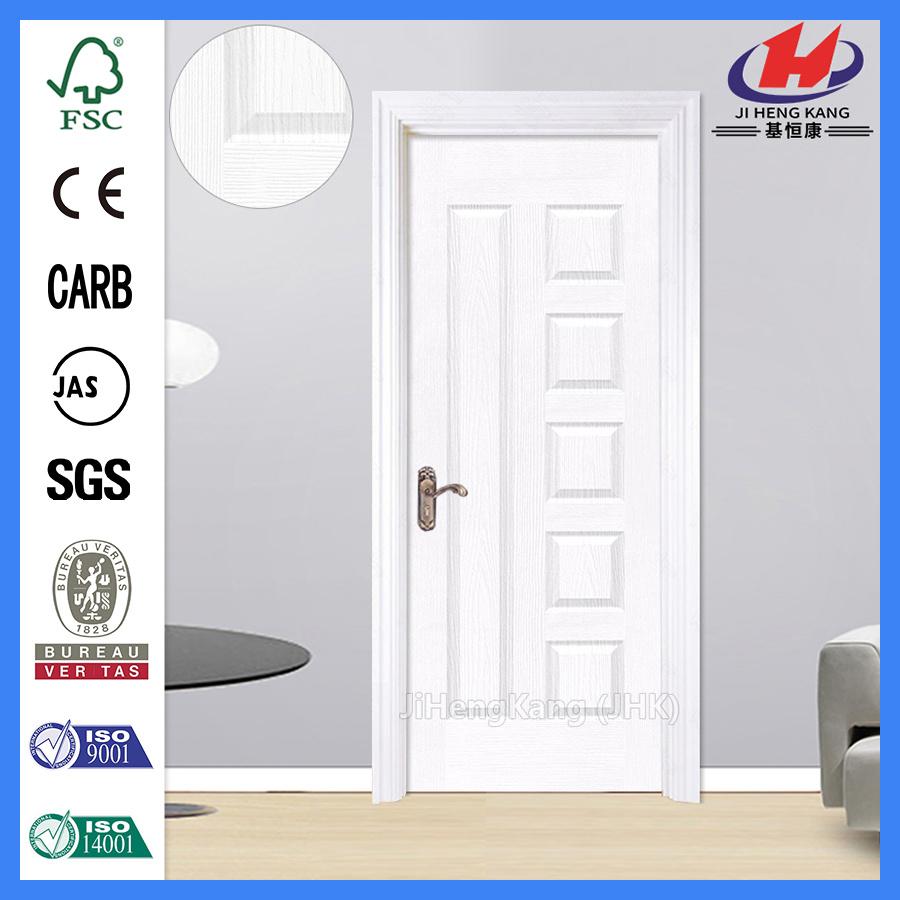China 6 Panel Interior Exterior Water Borne Painting White Doors