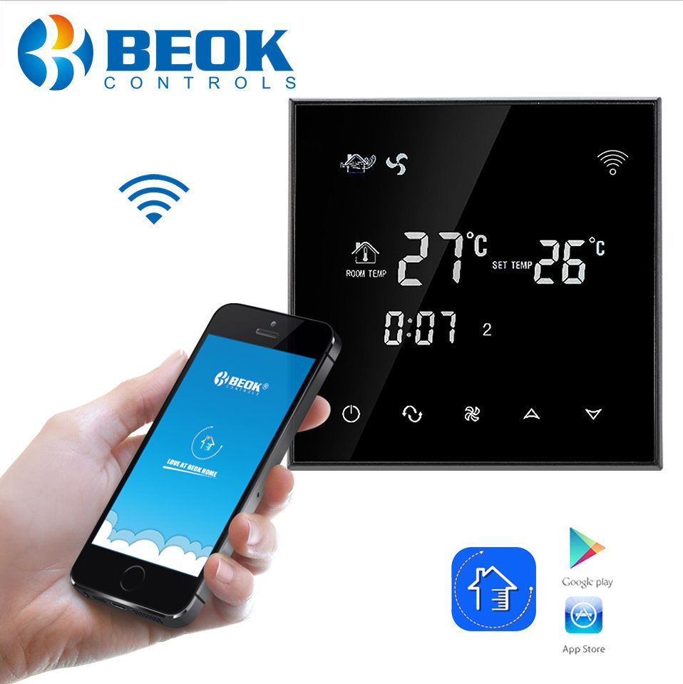 China Smart Phone Application Remote Control Wifi Thermostat For 3 Timerswitch Radio Applications Speed Ac Motors Fan Coil Thermostats