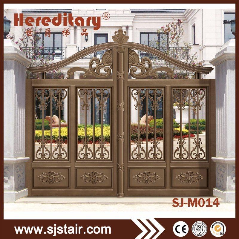 China Aluminum Security Gate Aluminum Double Door Gate Main Gate