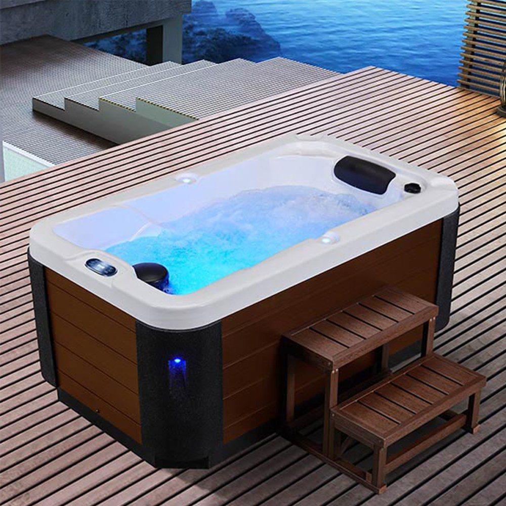 China Freestanding 1 8m Length Balboa Jacuzi Spa One Person Hot Tub China Spa Tub Spa
