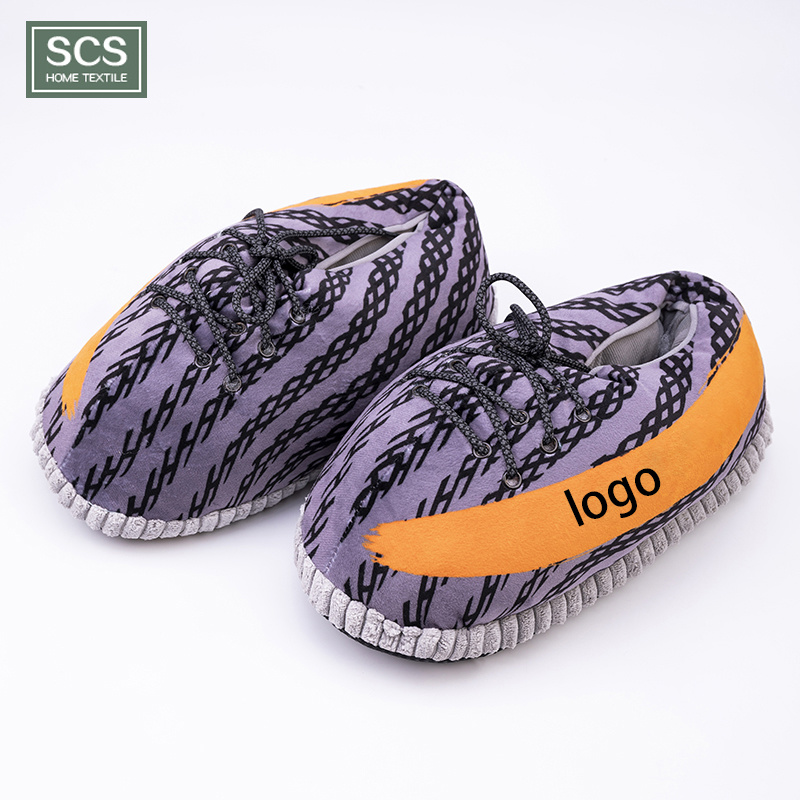 China Wholesale Average Size Yeezy Plush Unisex Sneaker Warm Indoor Slippers China Yeezy Shoes And Yeezy Slippers Price