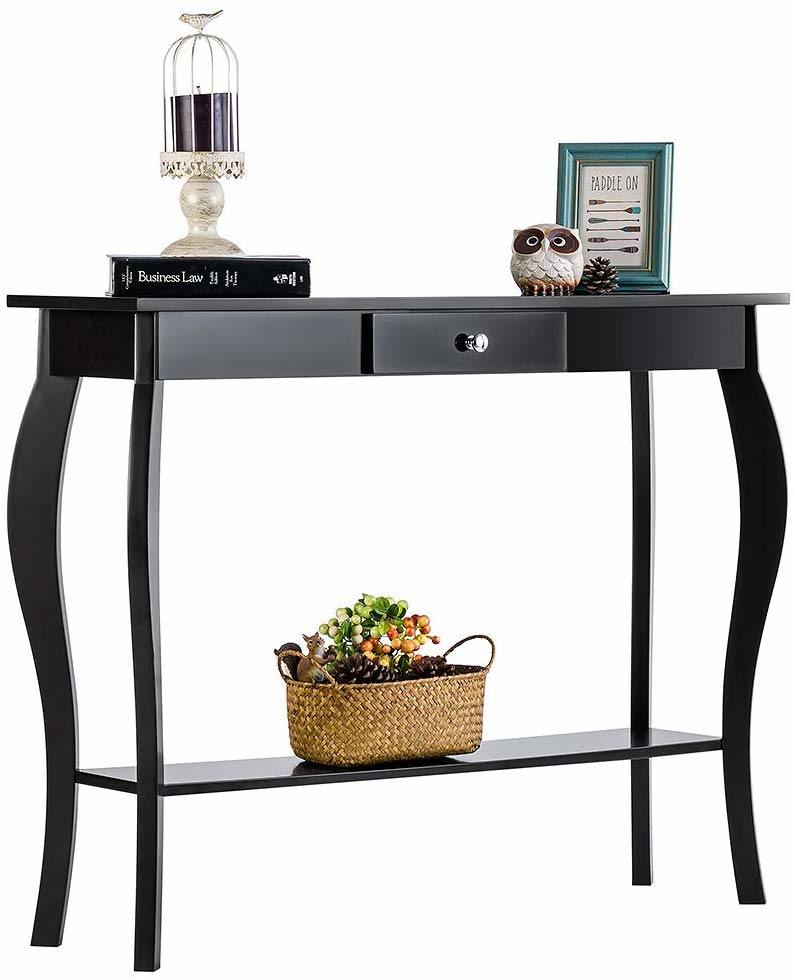 China Violet Narrow Console Table Desk, Sofa Table Desk With Drawers
