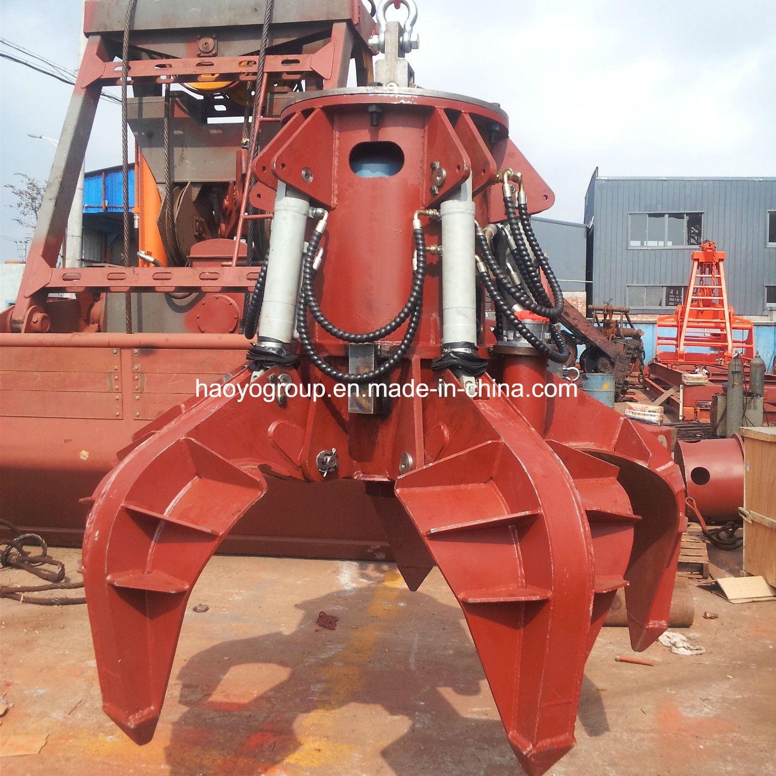 China Steel Scrap Loading Hydraulic Orange Peel Grab Bucket