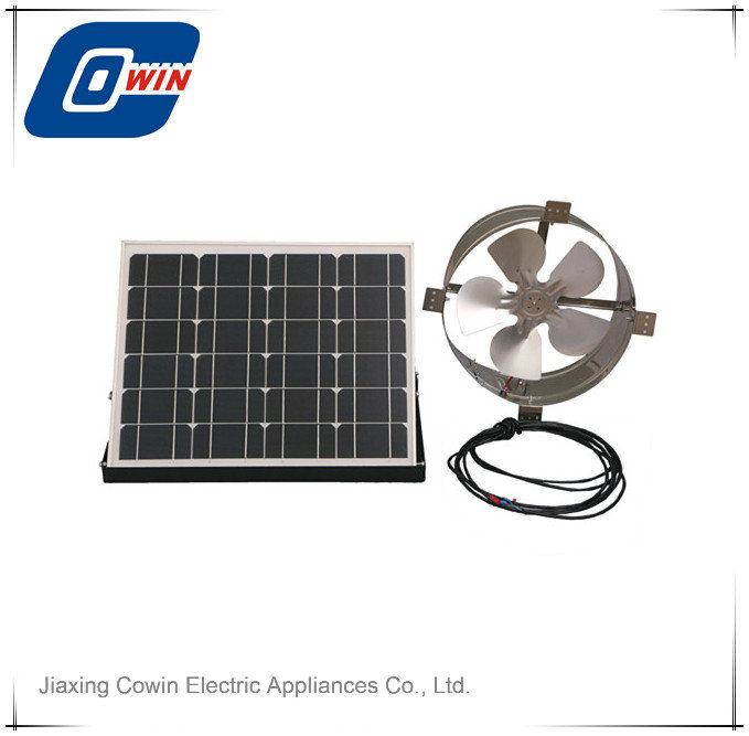 China 20w 12in Solar Powered Gable Attic Fan With