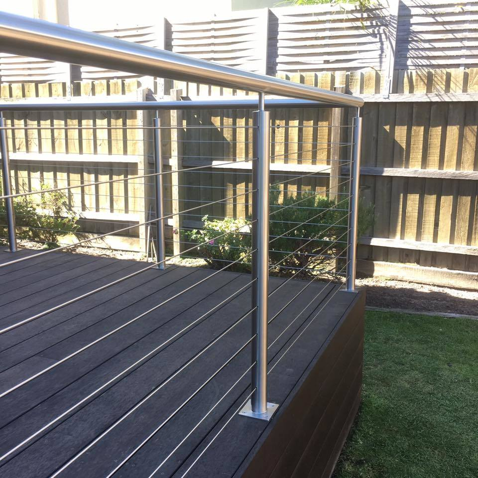 China Side Mounted 36′′ High Custom Stainless Steel Cable Railing ...