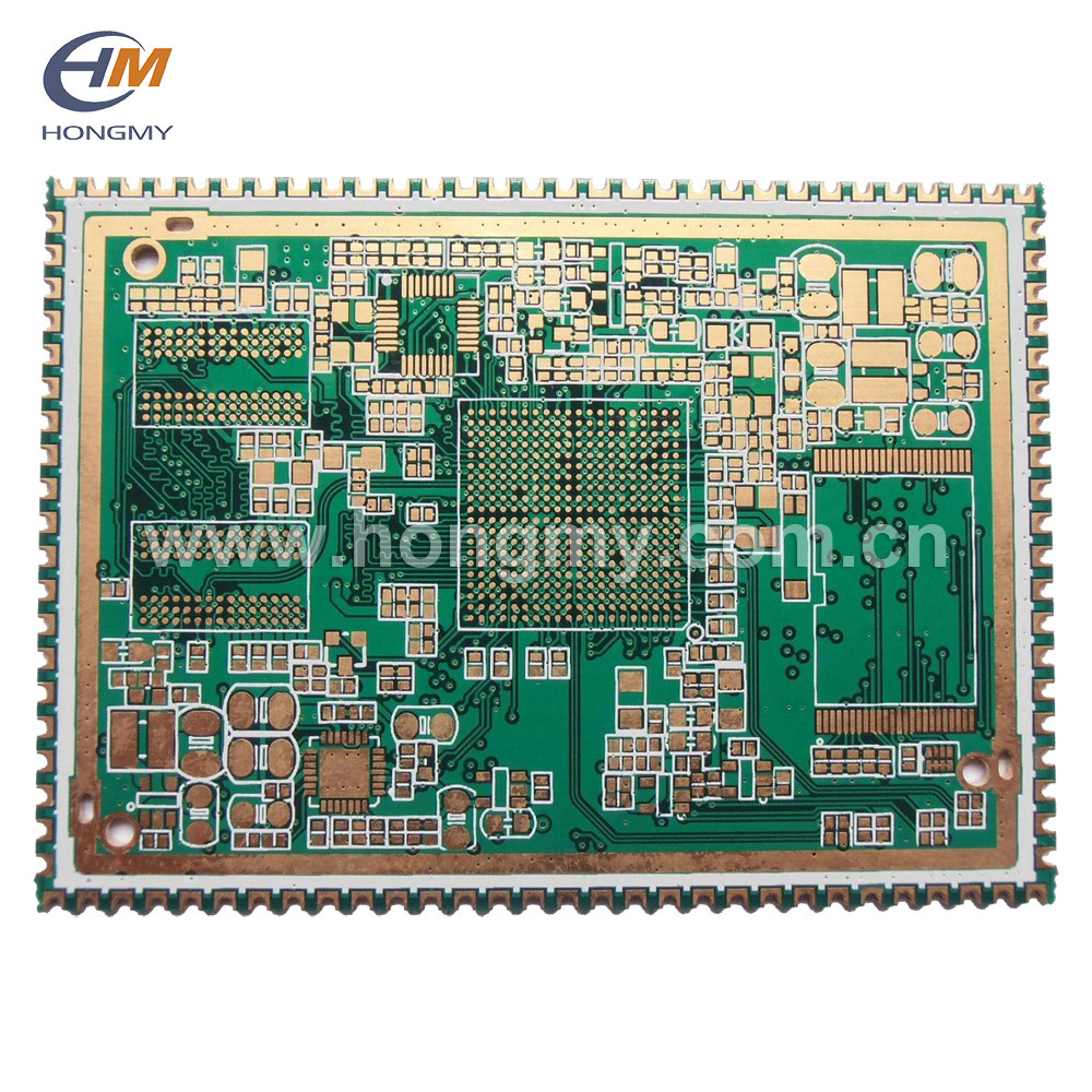 china semi hole immersion gold double side multilayer printed