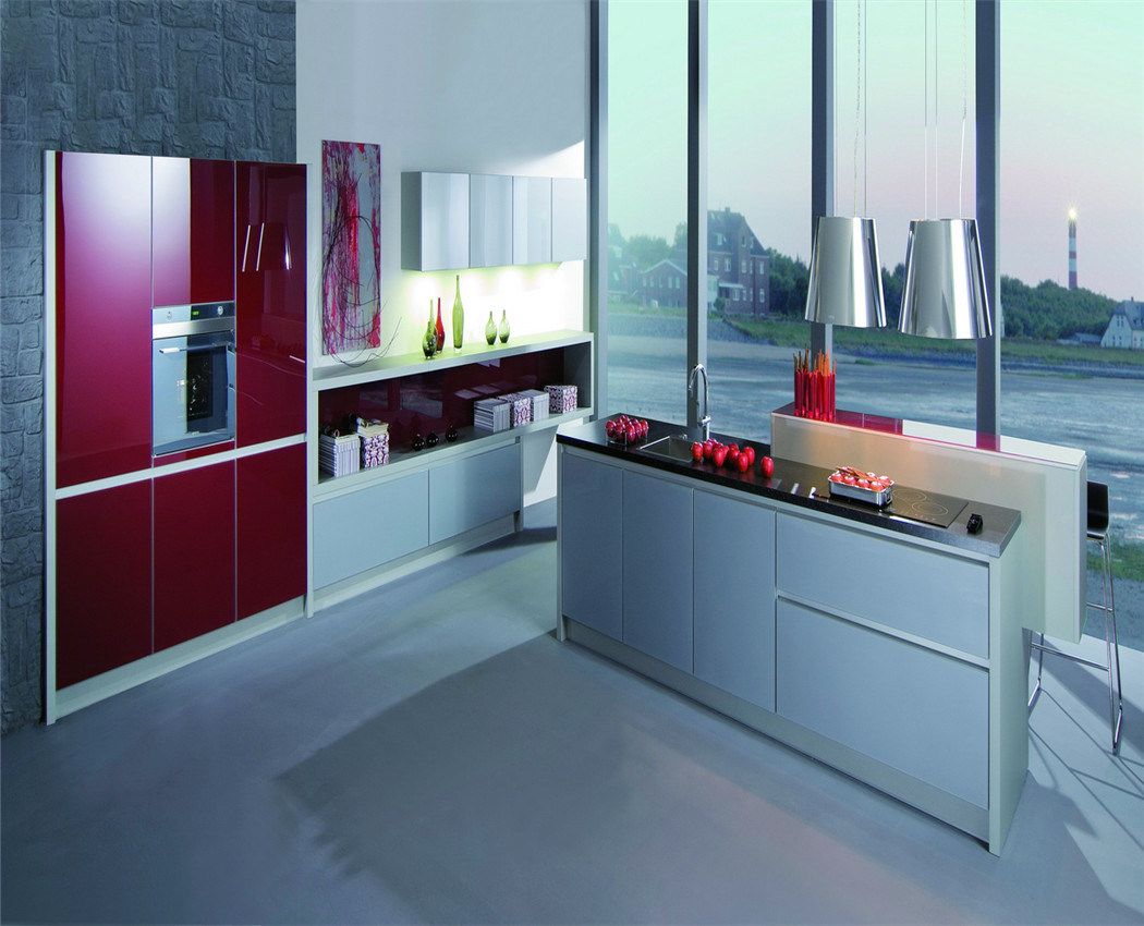China MDF Kitchen Cabinets (zs-229) - China Kitchen Cabinets ...