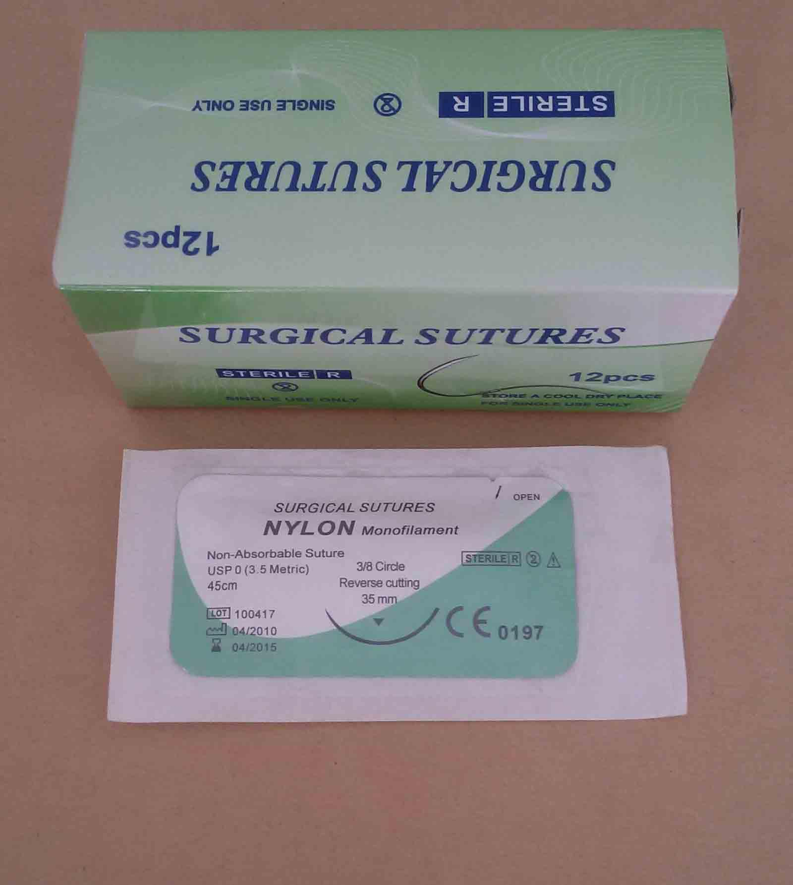 Nylon Surgical Suture Synthetic Non Absorbable Suture