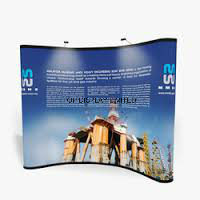 Trade Show Exhibition Booth Hook & Loop Attached Aluminum Structure Portable Exhibition Fabric Display Equipment