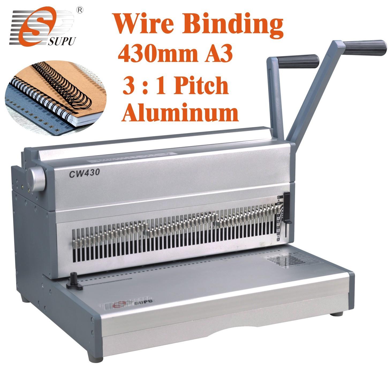 China Wire O Binding Machine A3 Size Paper Punching