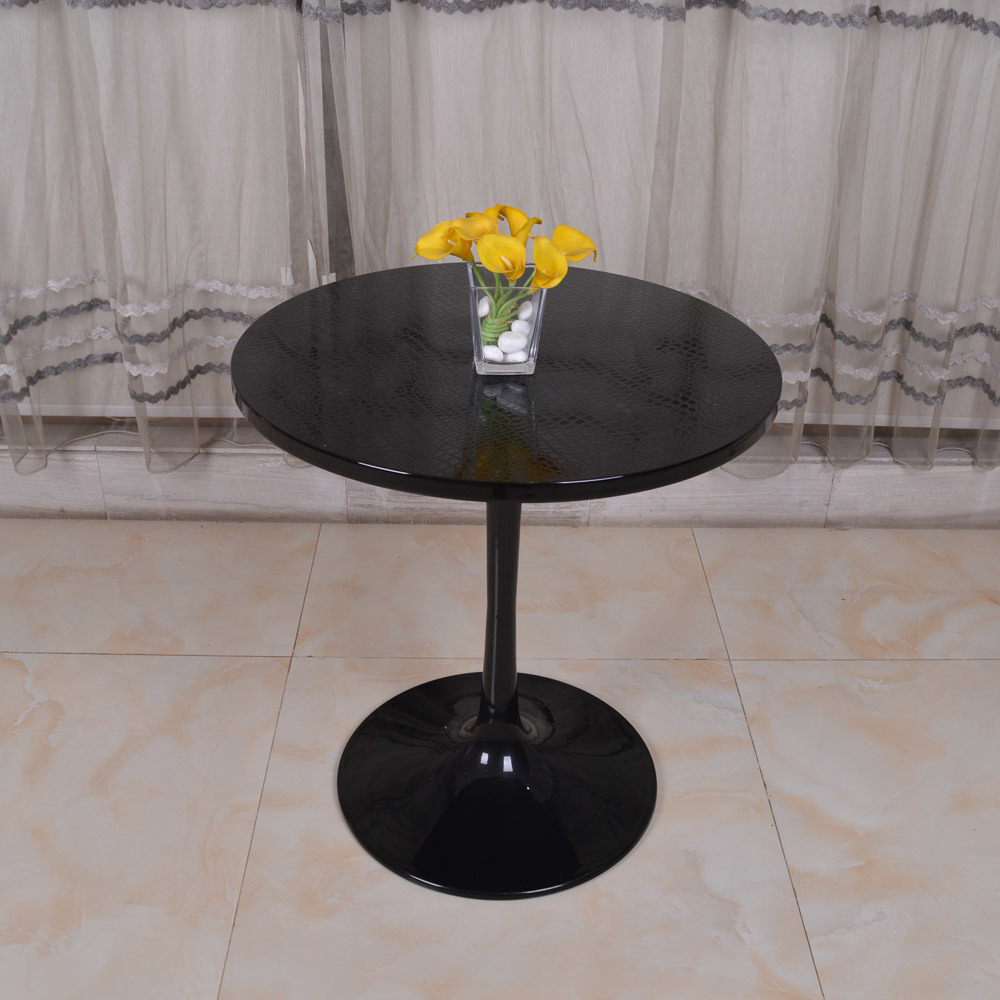Hot Item Wooden Black Round Restaurant Furniture Saarinen Style Tulip Dining Table