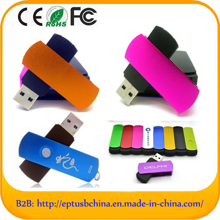 Swivel Plastic USB Pen Drive USB Flash Drive (ET005) pictures & photos