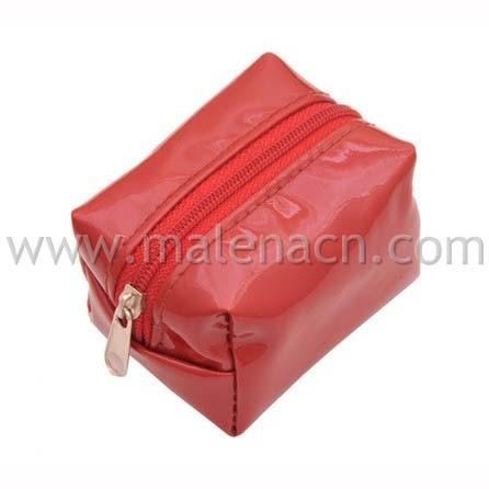 zeebee tas kosmetik cosmetic pouch tempat make up fuchsia · red square leather .