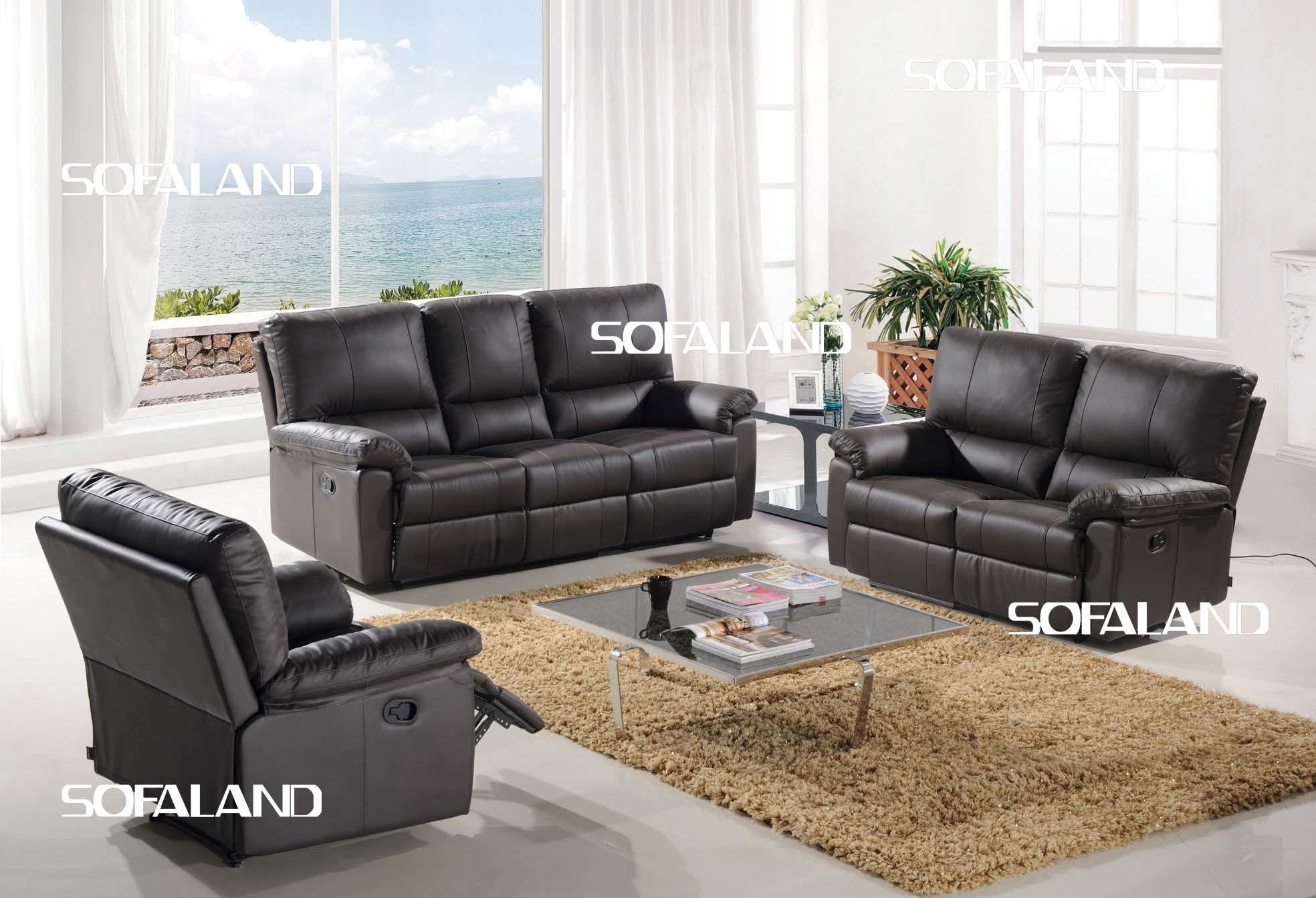 Black Color Pu And Pvc Leather Sofa