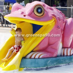 Frog Slide for Water Pool
