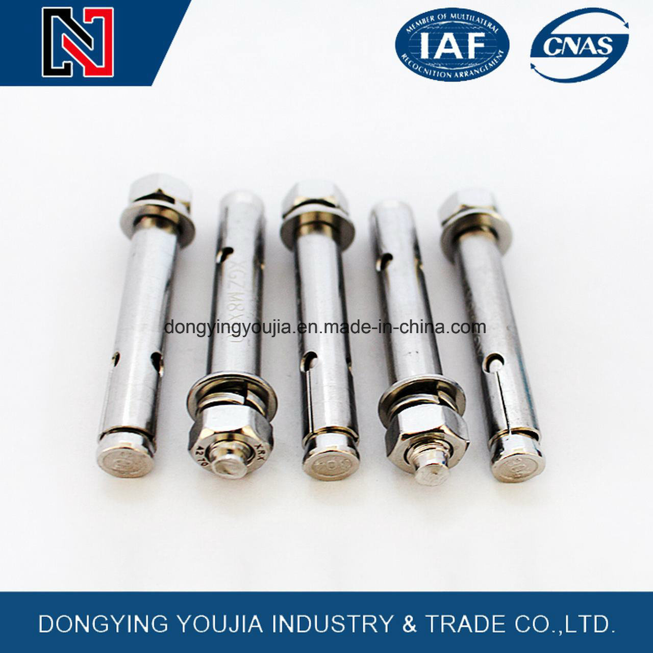 Hard Steel White or Yellow Zinc Anchor Expansion Bolt