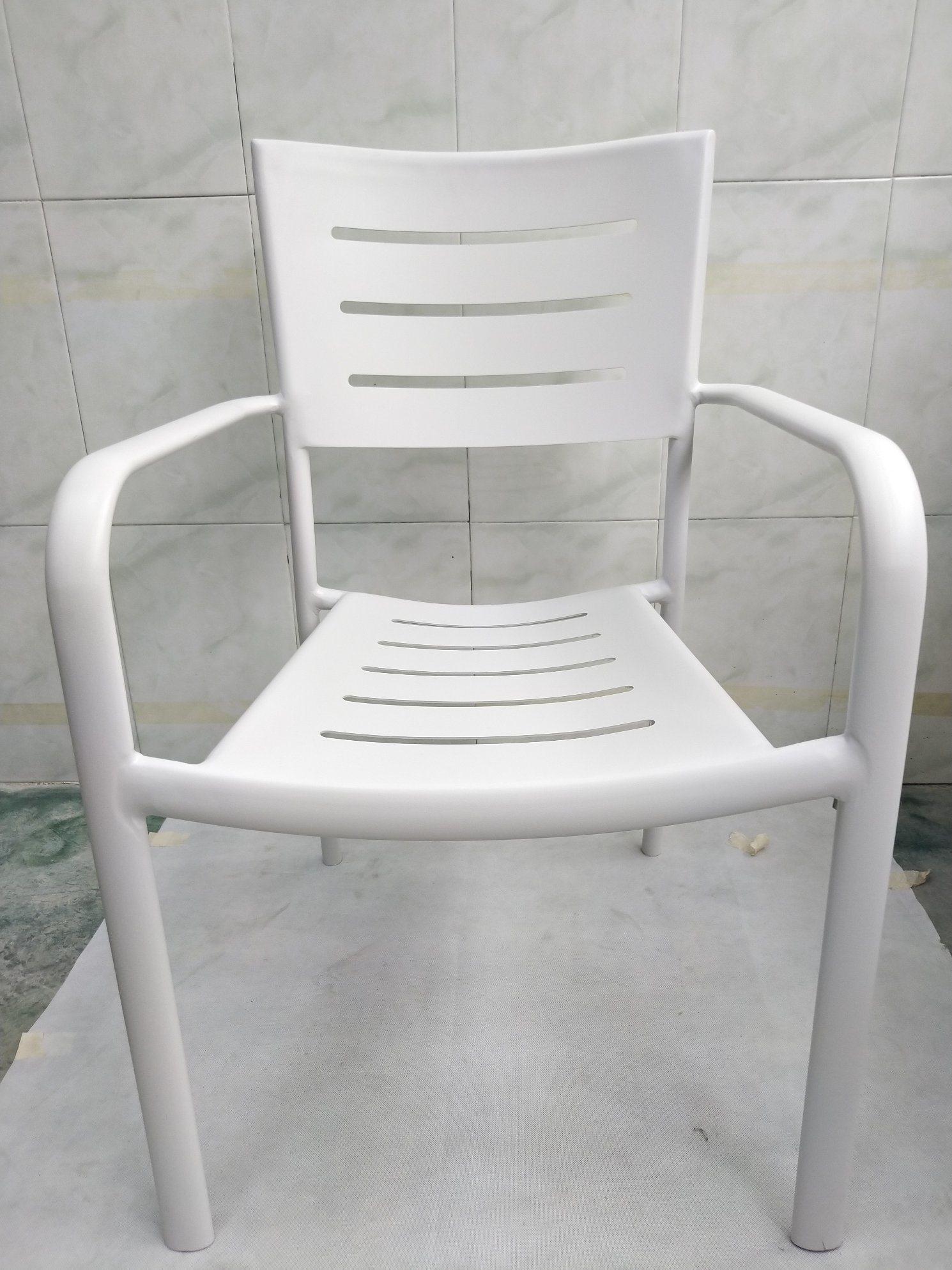 [Hot Item] Colorful Bistros Cafe Aluminum Outdoor Garden Beach Rainproof  Leisure Arm Chair