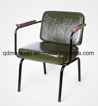 Loft Retro Restaurant Cafe Bar Chair Back Of A Chair, Wrought Iron Leisure  Chairs, Leather Leather Cushion Do Old Sofa Chair (M X3523)