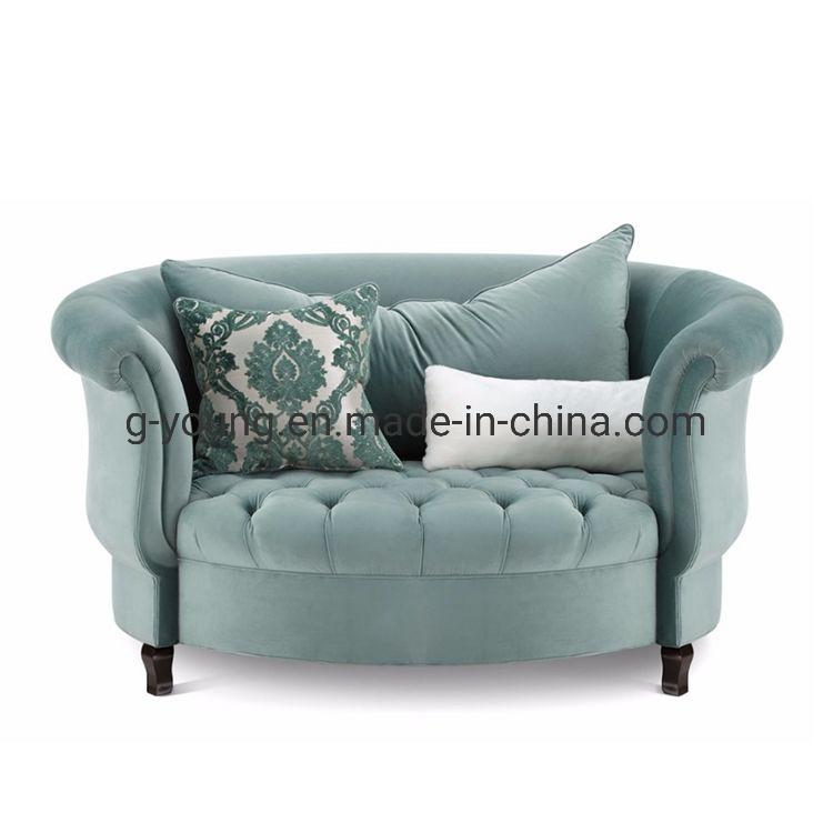 Sofa Chair Single With Velvet Fabric