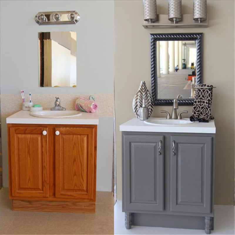 Painting Melamine Lacquer Small Bathroom Vanities Cabinets