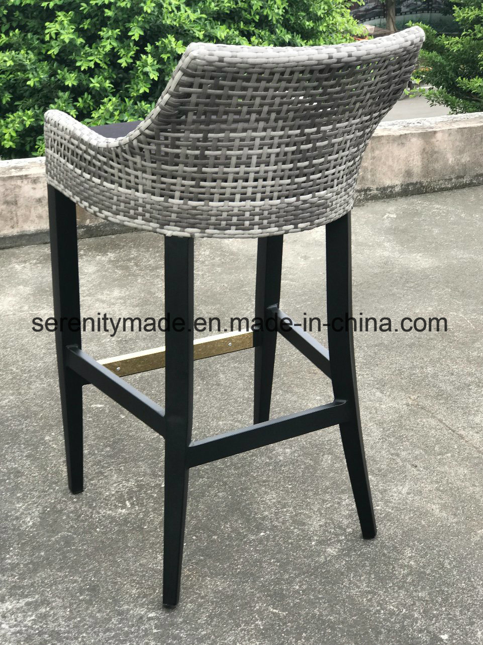 Swell China Aluminum Frame Synthetic Rattan Woven Counter Height Machost Co Dining Chair Design Ideas Machostcouk