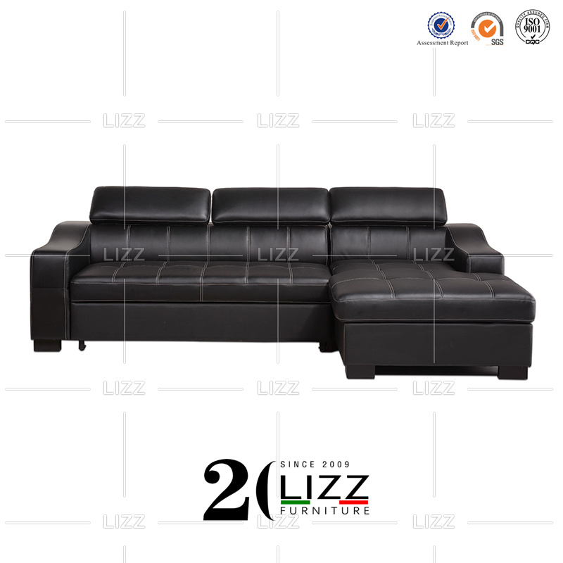 Corner Uk Functional Leather Sofa Bed