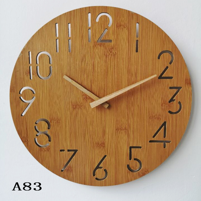 China Wooden Round Wall Clock Arabic Numerals Vintage Rustic Chic Style Wooden Round Home Decor Wall Clock China Wall Clock And Wood Wall Clock Price