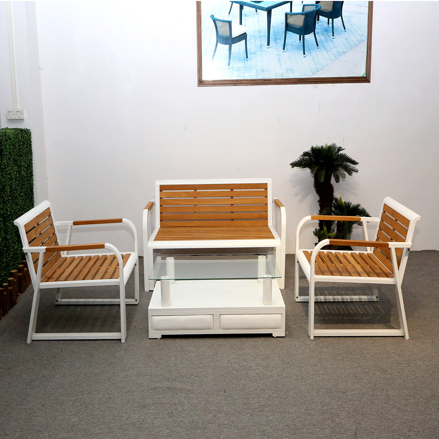 Picture of: China Modern Outdoor Furniutre Leisure Teak Table Set For Garden With Table China Wooden Table Set Outdoor Teak Table