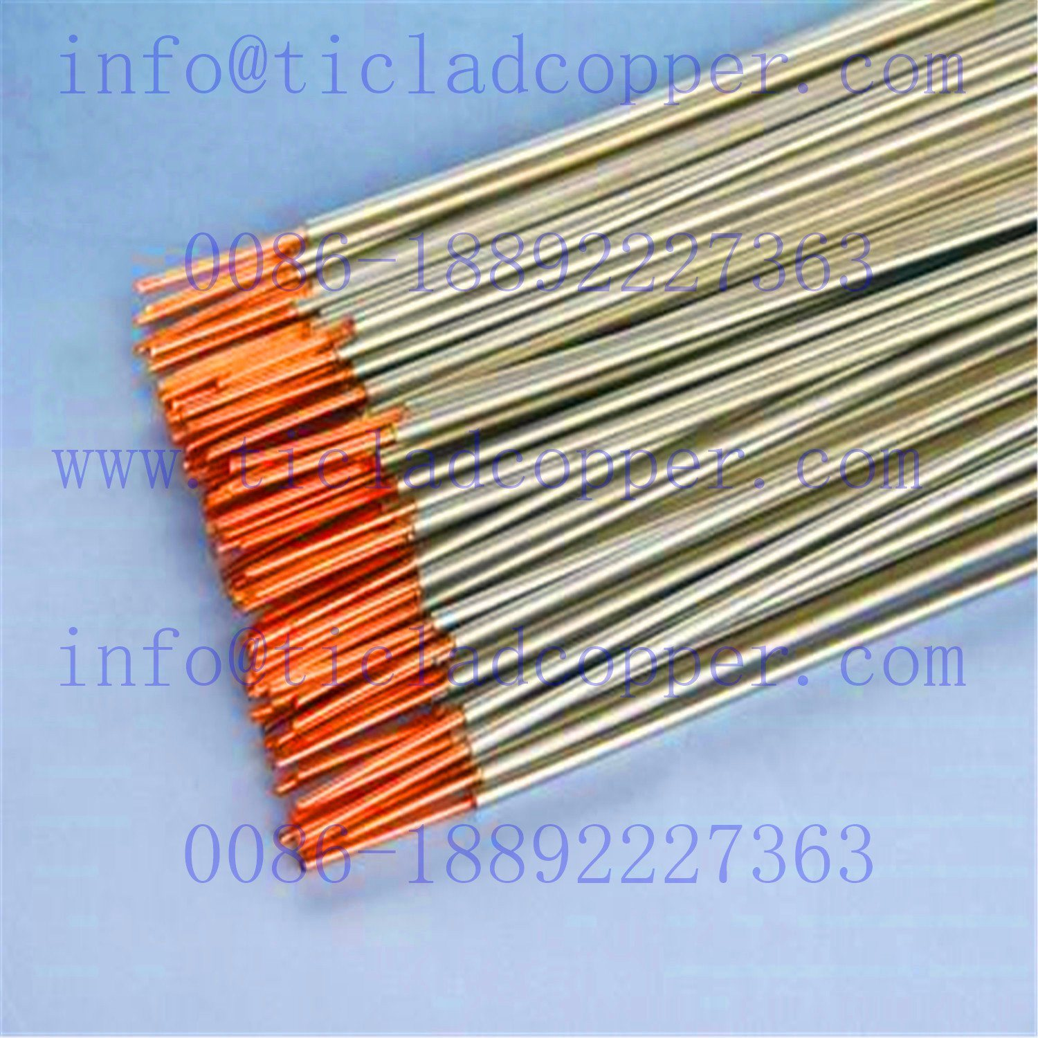 China Insoluble Titanium Clad Copper Wire For Print Circuit Maker