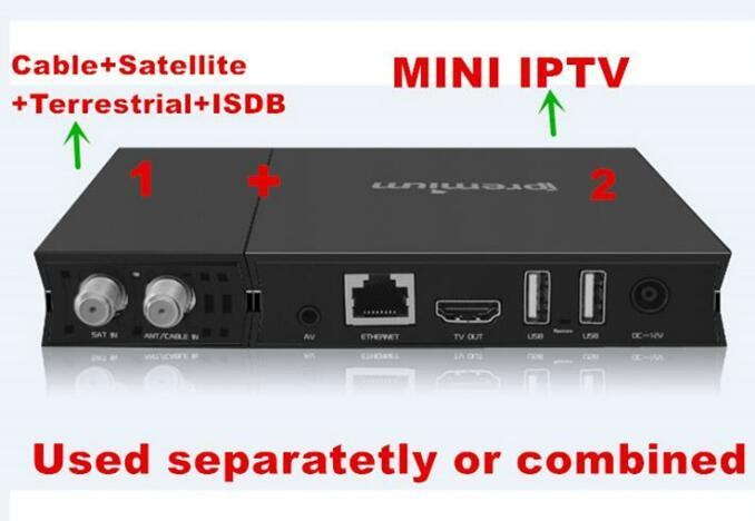 Ui Design TV Digital Box Hybird DVB and IPTV Set Top Box