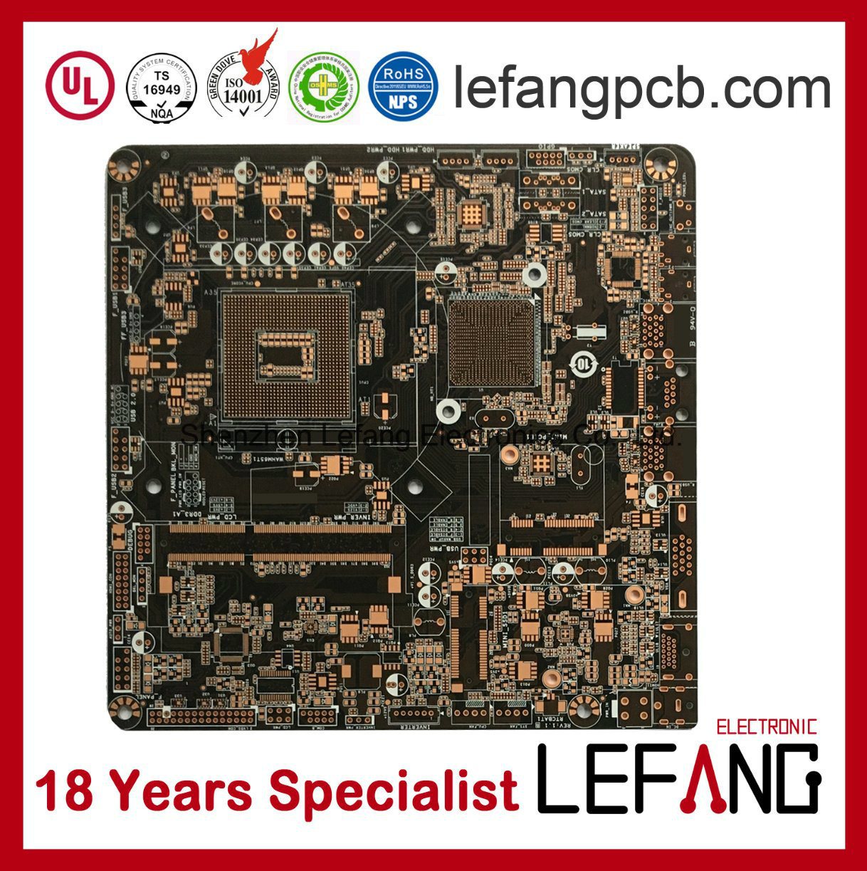 China 4layers Osp Circuit Board Pcb For Security Monitor Device Printed Pcba