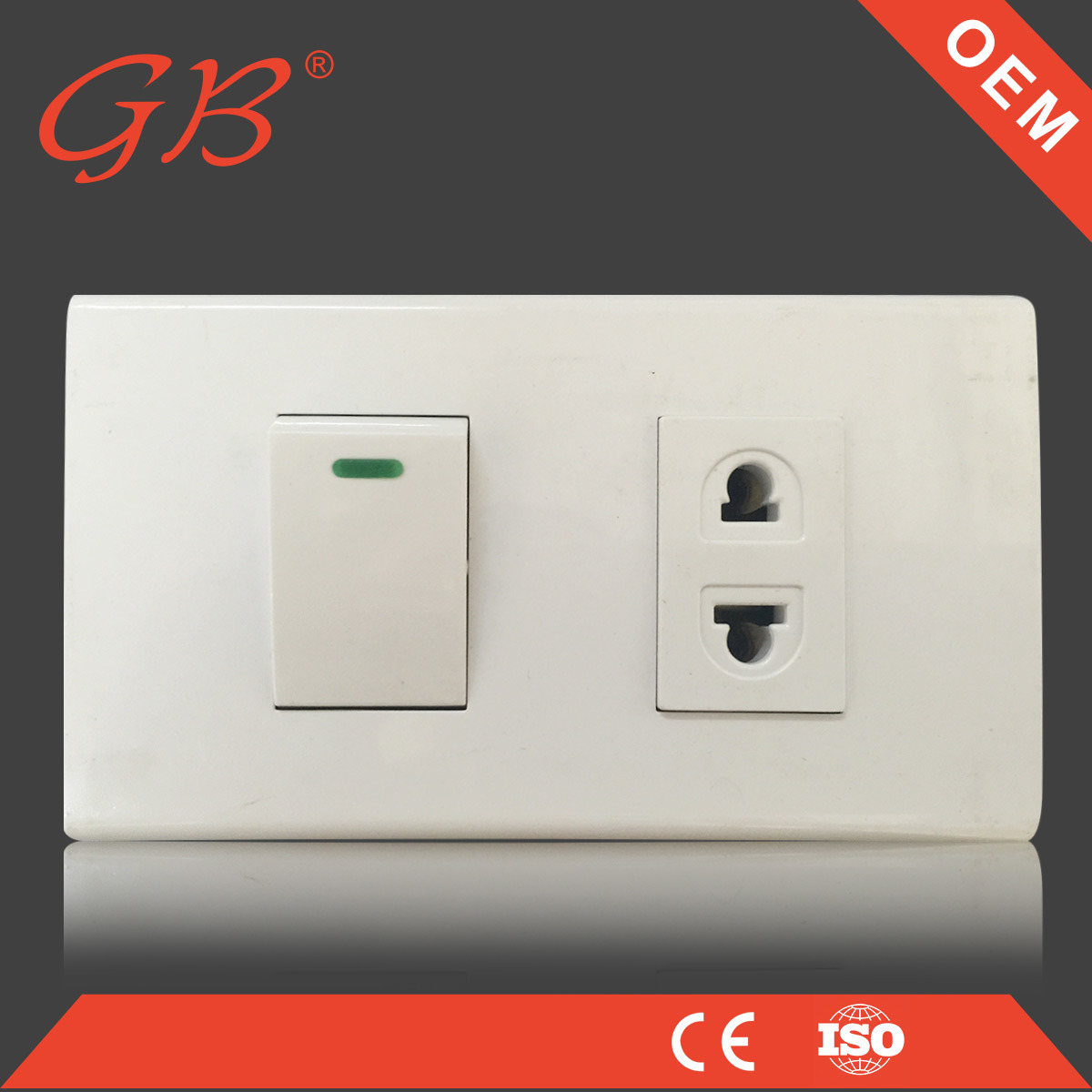 China South American ABS 15A Wall Socket Wall Switch - China Wall ...
