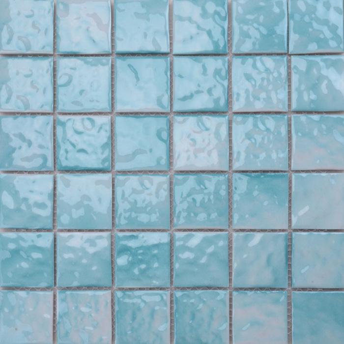 Sky Blue Mosaic Tiles Bathroom