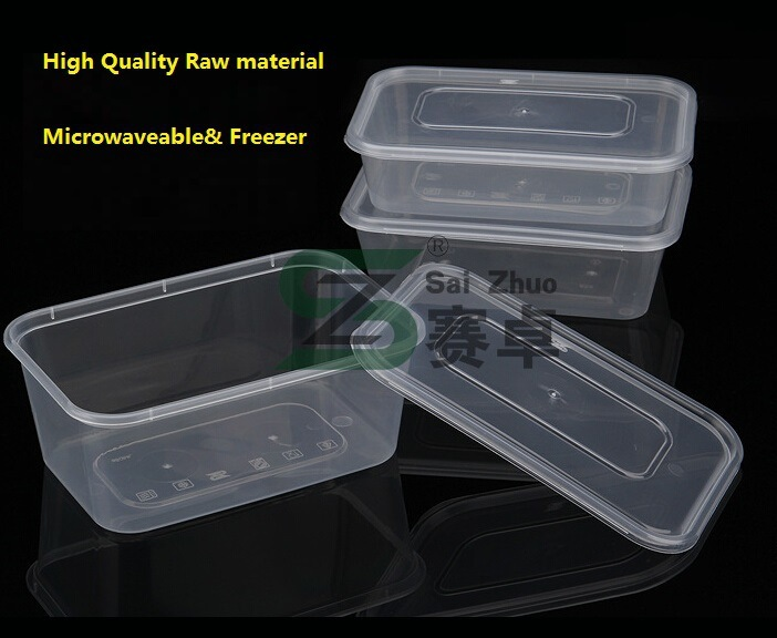 Single Rectangle Compartment Disposable Transparent Plastic Lunch Storage Box