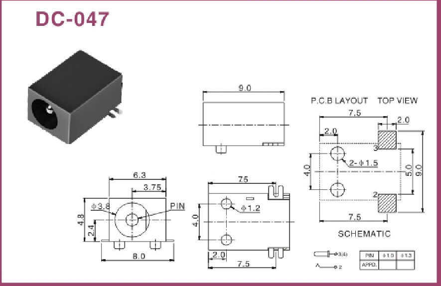 [SCHEMATICS_4US]  China 1.0/1.3mm Pin SMT DC Power Jack (DC-047) Photos & Pictures -  Made-in-china.com | Dc Power Jack Schematic |  | ShenZhen Homyet Parts Electronic Co., Ltd.