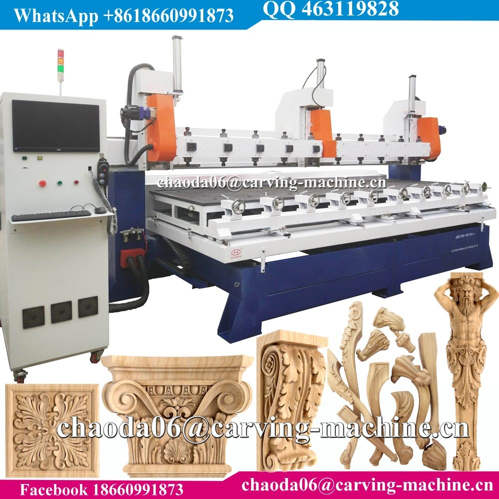 CNC Router 5 Axis CNC Wood Carving Machine for 3D Corbel Pilaster Capital Column Antique Furniture Leg Lion Baluster Stair Statue Figure Sculpture pictures & photos